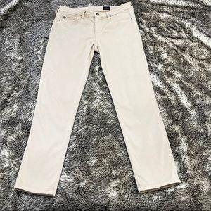 AG Adriano Goldschmied Sateen Prima crop jeans